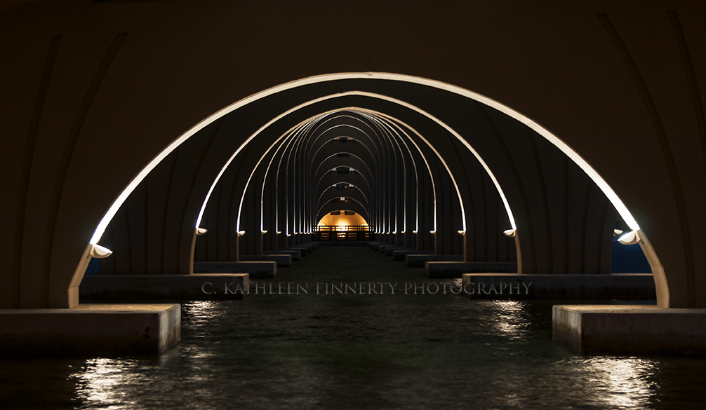 Pinellas Bayway Bridge night view